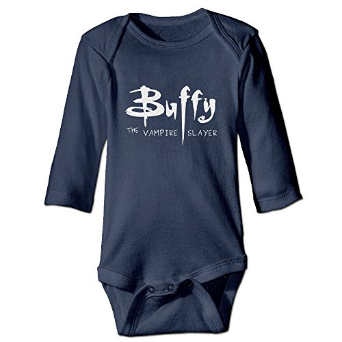 [DETED Buffy The Vampire Slayer Logo Cute Boy & Girl Infants Climb Jumpsuit Size18 Months Navy] (Buffy The Vampire Slayer Movie Costume)