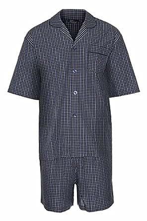 Champion Ensemble de Pyjama en Coton Été Homme Tenue de Nuit 3156 (Bleu Marine) M