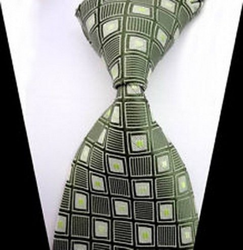 William Design New Classic Army Green Plaids Tie WOVEN JACQUARD Silk Mens Suits Tie Necktie wd-16249