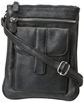 Leatherbay Leatherbay Soft Crossbody,Black,one size