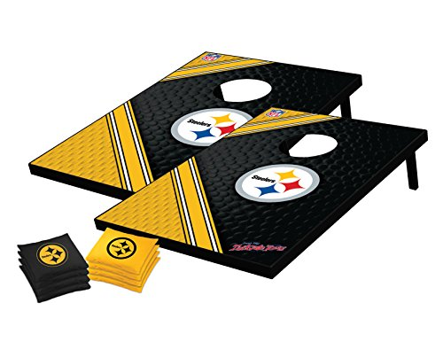 NFL Pittsburgh Steelers Tailgate Cornhole Toss Bean Bag Game Set, Medium at Steeler Mania