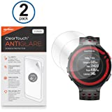 Garmin Forerunner 220 Screen Protector, BoxWave® [ClearTouch Anti-Glare (2-Pack)] HD Film Screen Guard for Forerunner 220 and 620