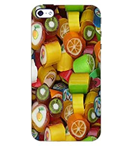 PrintDhaba FRUIT PATTERN D-6411 Back Case Cover for APPLE IPHONE 4S (Multi-Coloured)