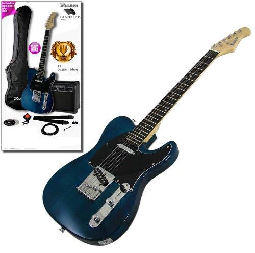 Benson Tl C-Thru Blue Electric Guitar Package Amplifier Pack Ign Rockschool