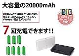 20000mAh モバイルバッテリー スマホ iPhone6 iPhone Android など対応 充電器 グリーン 【60点】