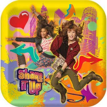 Disney Shake It Up Square Dinner Plates Party Accessory - 1