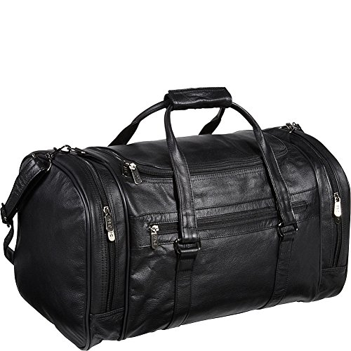 amerileather-leather-20-in-u-shaped-duffel-black