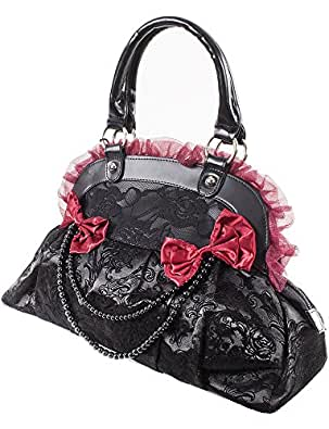 Banned Victorian Gothic Princess Velvet Skull Flocked with Bows