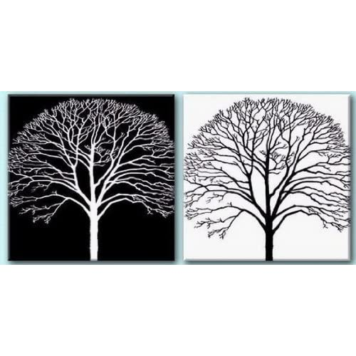 Hand Painted Canvas Art Black And White