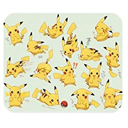 1 X Mystic Zone Personalized Pokemon Pikachu Rectangle Mouse Pad (Black) by Custom Rectangle Mouse Pads