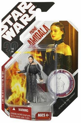 51ipEwctR1L Cheap Price Star Wars 3.75 Basic Figure Padme with Black Leather Outfit