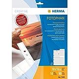Herma 7585 Fotohüllen (Fotophan-Sichthüllen, Fotogröße: 10 x 15 cm) weiß
