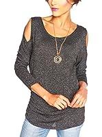 SO Cachemire & Knitwear Camiseta Manga Larga Joa (Negro)