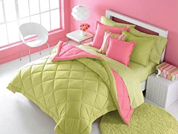 Teen Girl Room Decor, Teen Decor Themes, Lime Teen Bedding,