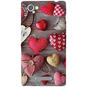 Printland Multi Hearts Phone Cover For Sony Xperia M