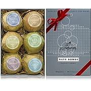 Art Naturals Bath Bombs Gift Set - 6 Ultra Lush Essential Oil Handmade Spa Bomb Fizzies - Organic &...