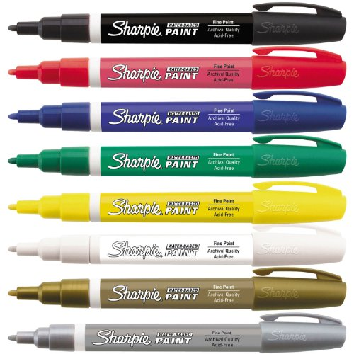 sharpie-paint-marker-kit-water-based-fine-point-8-colors