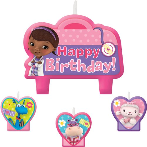 4-Piece Doc McStuffins Birthday Candles, Multicolored - 1