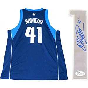 Dirk Nowitzki Autographed Authentic Dallas Mavericks Jersey by Hollywood Collectibles