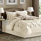 Madison Park Laurel 7 Piece Comforter Set - Ivory - King