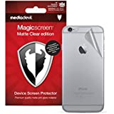 MediaDevil Apple iPhone 6/6S Back (Rear) Screen Protector: Magicscreen Matte Clear (Anti-Glare) Edition - (2 x Back Protectors)