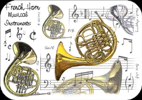 Little-Snoring-Gifts-French-Horn-Platzmatte-Pack-of-4