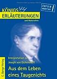 Königs Erläuterungen und Materialien, Bd.215, Aus dem Leben eines Taugenichts
