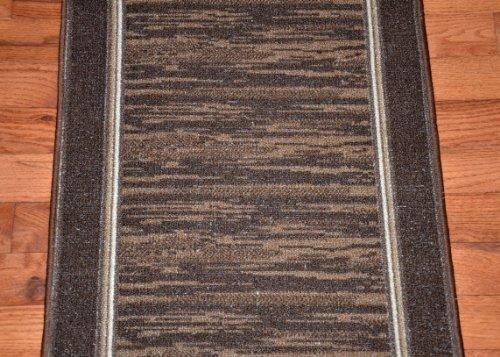 Dean Flooring Company Dean Washable Carpet Rug Runner Boxer Chocolate Pur