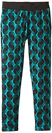 PUMA Big Girls' Circle-Print Legging,Tropical Green,Small