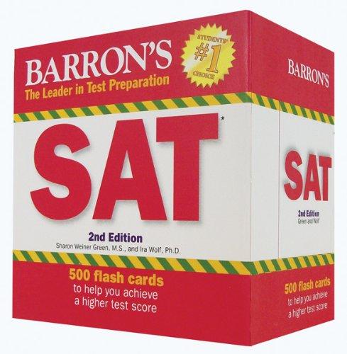 Barron's SAT Flash Cards, 2nd Edition