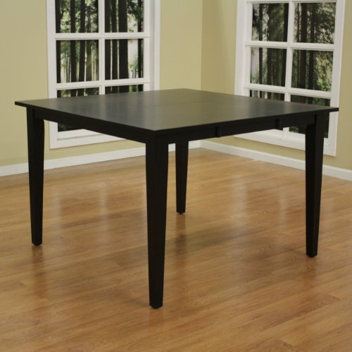 American Heritage Este 54 Inch Butterfly Counter Height Dining Table In  Black