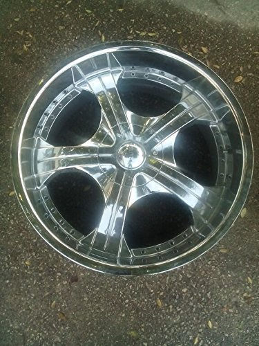 22 INCH AKUZA AFTERMARKET CHROME WHEEL RIM 22x9.5 6x5.5 OFFSET 18 (22 Inch Rims 6 Lug compare prices)