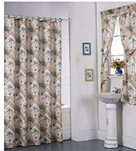 Purple Bathroom Window Curtains Goth Shower Curtains