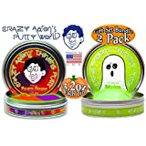 "Crazy Aaron's Thinking Putty Halloween ""Hocus Pocus"" Phantoms (UV Reactive) with Blacklight Keychain & ""Ectoplasm"" Glow in the Dark Gift Set Bundle - 2 Pack (Limited Edition)"