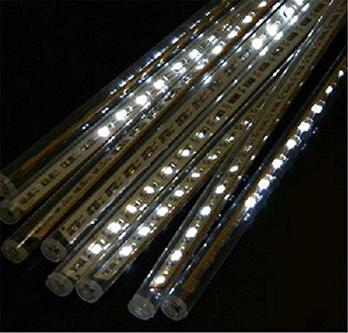 30Led X 8 Tubes (240 Led Lights) White Color Led Meteor Shower Rain Tube Lights Outdoor Tree Decoration 100V-240V