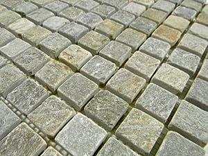 Golden White Quartzite 1 x 1 Tumbled Mosaic Tile
