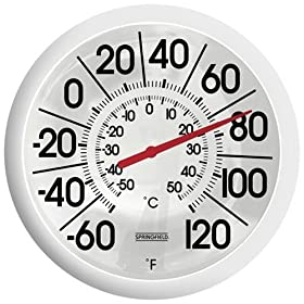 Big and Bold Low Profile Patio Thermometer