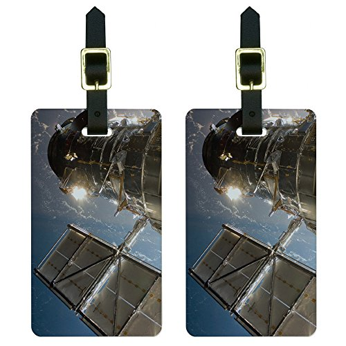 Hubble Telescope - Astronomy Space Luggage Tags Suitcase Carry-On Id Set Of 2