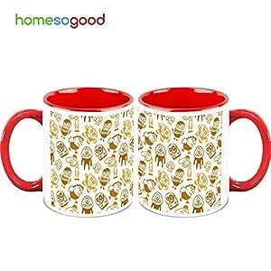 Homesogood funny animated faces coffee mugs 2 mugs home amp kitchen