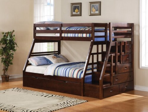 Bunk Beds With Stairs 2277 front