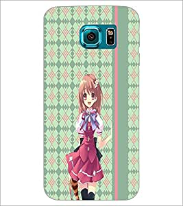 PrintDhaba Smart Girl D-4307 Back Case Cover for SAMSUNG GALAXY S6 (Multi-Coloured)