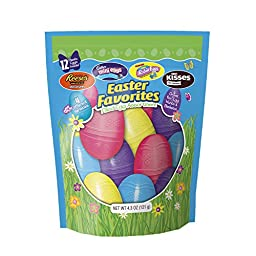 Hershey\'s Chocolate Filled Plastic Easter Egg Assortment, 4.3-Ounce Bags (Pack of 3)