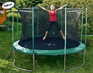 ein trampolin hudora trampolin 366 cm mit sicherheitsnetz und leiter modell 2012 top preis. Black Bedroom Furniture Sets. Home Design Ideas