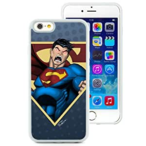 6 case,Unique Design Superman Drawing Emotions White iPhone 6 4.7 inch TPU case cover