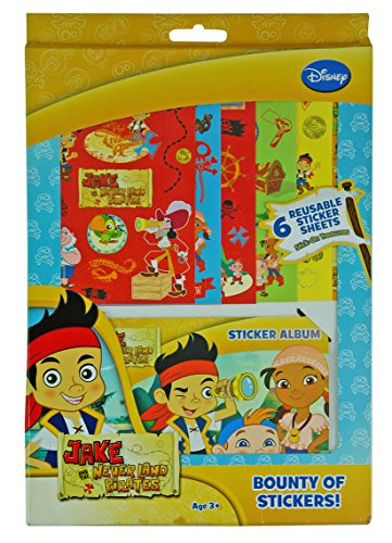 Disney Jake and the Neverland Pirates Stickers Galore Sticker Album with 6 Reusable Sticker Sheets
