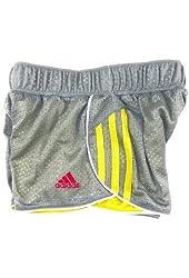 Girl's XS-7 adidas Iconic Mesh Shorts, Grey/yellow