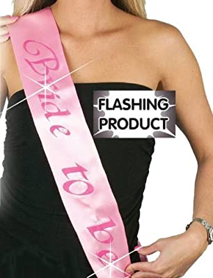 Pams Hen Party: Flashing Sash Bride To Be