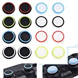 8 Pairs/16 PCS Silicone Luminous Analog Thumb Stick Caps Cover for PS4 PS3 PS2 Xbox One/360 Game Controller