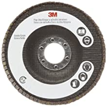 "3M Flap Disc 747D, Ceramic Grain, 4-1/2"" Diameter, 50 Grit (Pack of 1)"
