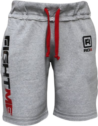 RDX Fight ME Fleece Shorts UFC MMA Gym Bottoms Mens Sports Gym Pants Boxing THAI